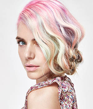 Confectionery-fashion hair colour