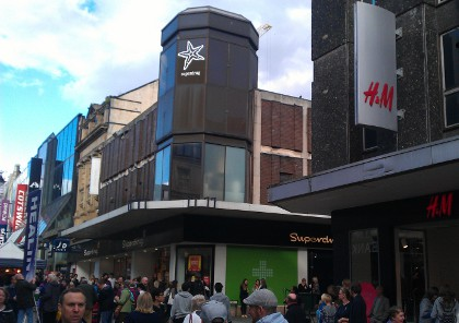 Superdrug and H&M Newcastle